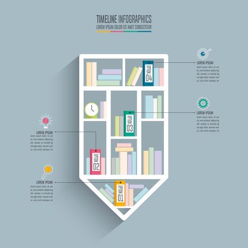 concetto di business design infografica timeline con 4 opzioni.
