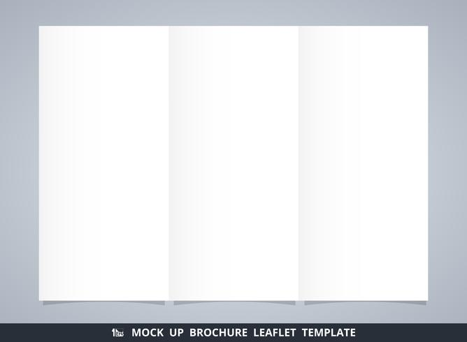 Resumo mock-se modelo de folheto brochura branca. vetor