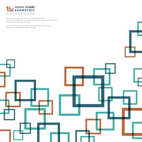 Colores abstractos del cuadrado del negocio del fondo geométricos. vector
