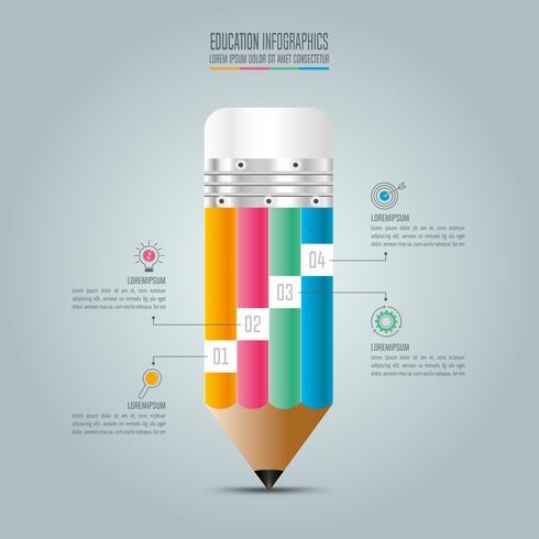 Bildung Infografiken Vorlage 4-Schritt-Option.