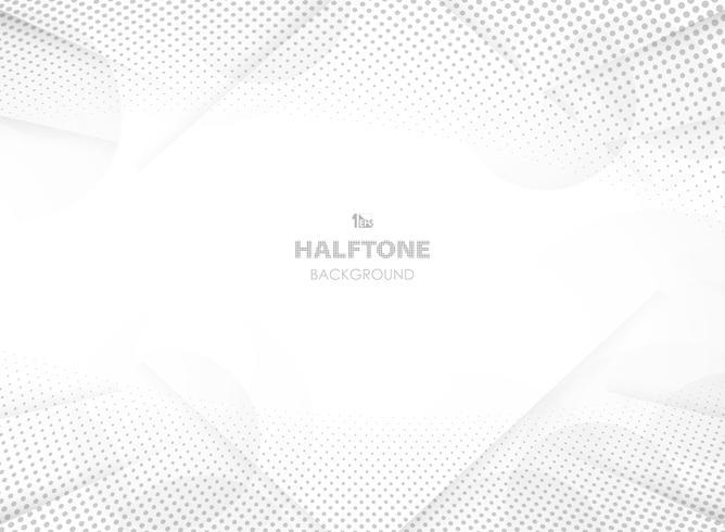 Abstracte futuristische gradiënt grijze kleur met halftone decoratie en cirkeltechnologieachtergrond. vector