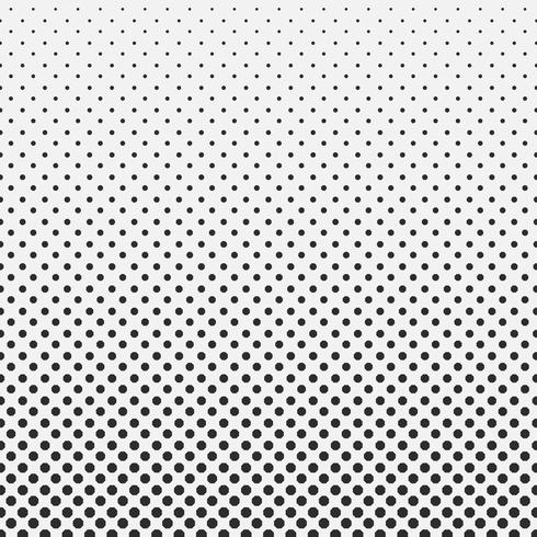 Abstract hexagon halftone pattern background black and white. vector