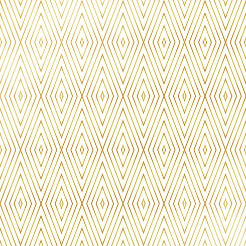 Os triângulos quadrados luxuosos abstratos dão forma ao fundo dourado do teste padrão do estilo. Você pode usar para obras de arte design art deco. vetor