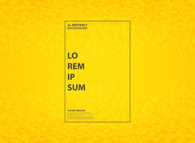 Fondo moderno amarillo vivo abstracto del modelo con la decoración geométrica del estilo. Se puede utilizar para el diseño tecnológico de anuncios, carteles, diseños decorativos, informes anuales, ilustraciones.