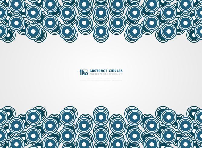 Abstracte blauwe cirkels patroon ontwerp lijnen presentatie achtergrond. illustratie vector eps10