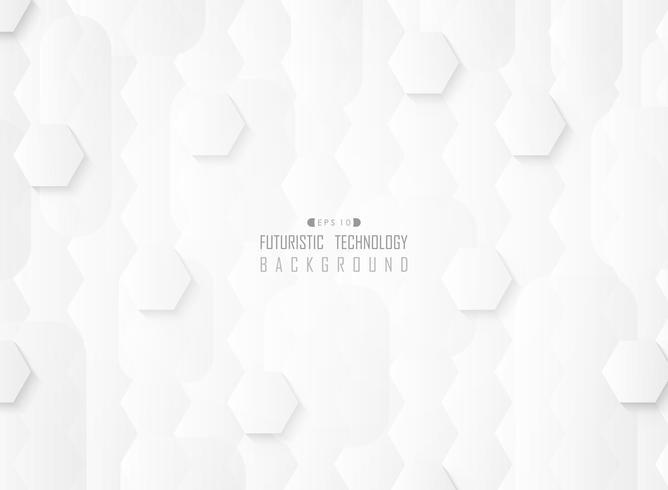 Fundo branco da tecnologia do teste padrão do inclinação futurista abstrato. vetor