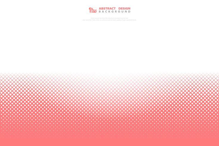 Fondo geométrico vivo rosado abstracto del modelo del cuadrado coralino del color. ilustración vectorial eps10
