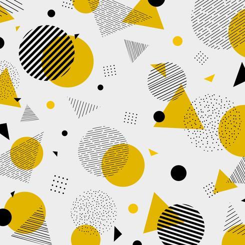 Los colores negros amarillos geométricos abstractos modelan la decoración moderna.