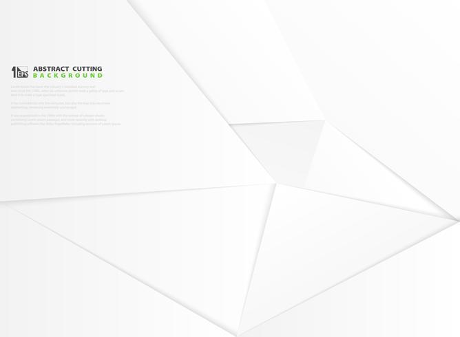Papier blanc abstrait gris moderne dégradé coupe de fond décoration. illustration vectorielle eps10