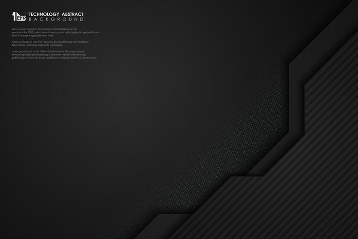 Résumé technologie sombre modèle design décoration avec fond de paillettes. illustration vectorielle eps10