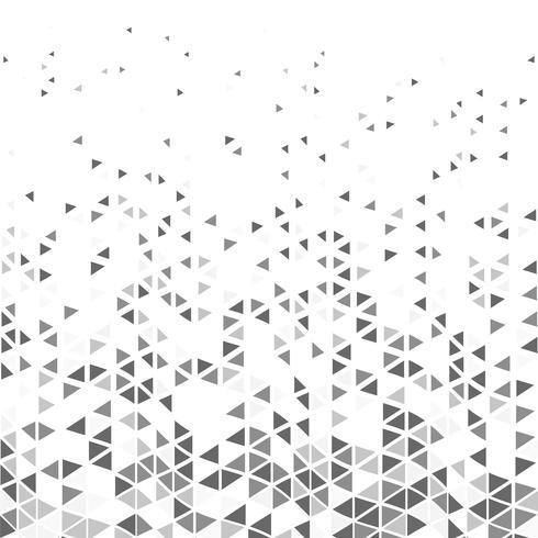 Abstraktes modernes Dreieck kopiert grauen Tonhippie-Design-Dekorationshintergrund. Abbildung Vektor eps10