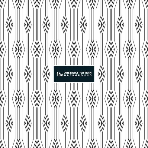 Abstract stripe line of square diamond pattern background on white background. vector
