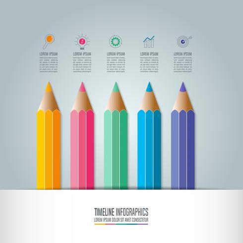 Bildung Infografiken Vorlage 5-Schritt-Option.
