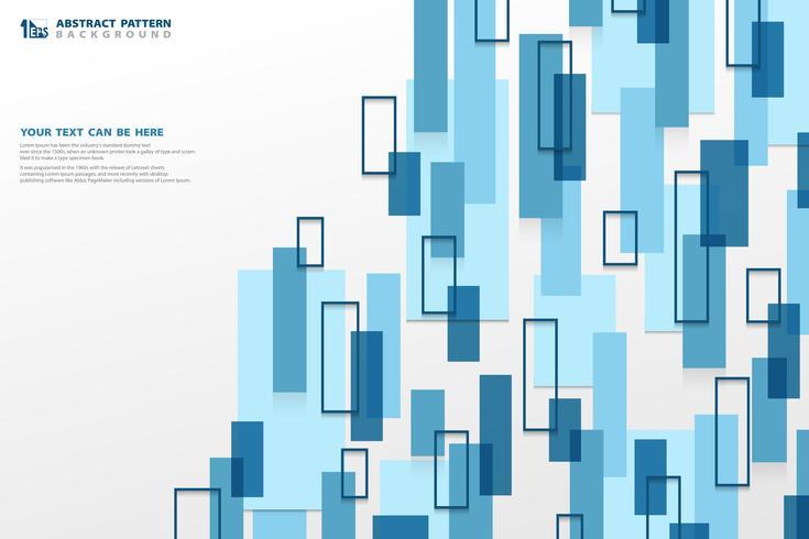 Moderner blauer quadratischer geometrischer vertikaler Musterhintergrund der abstrakten Technologie. Sie können für Anzeige, Plakat, Unternehmenspräsentation, Geschäftsbericht, Cover-Design verwenden.