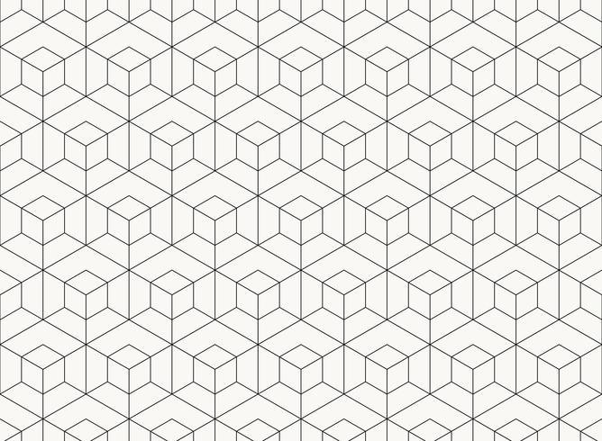 Geometrische schwarze Linie des Musterhexagon-Designs des Technologiehintergrundes. Abbildung Vektor eps10