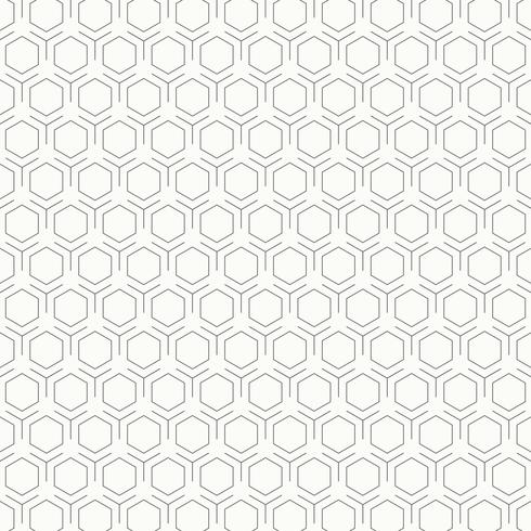 Abstract vintage black and white hexagon pattern design background. illustration vector eps10