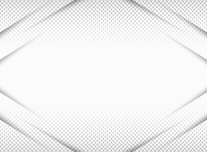 Papier abstrait coupé en dégradé de gris en arrière-plan de symétrie demi-teinte avec espace copie. Vous pouvez utiliser pour la présentation, la publicité, les affiches et les illustrations. vecteur