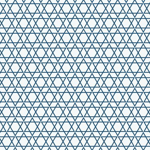 Abstrakt enkel sömlös blå triangelmönster. vektor