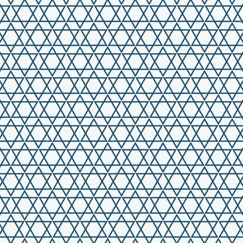 Abstraktes einfaches nahtloses blaues Dreieckmuster. vektor