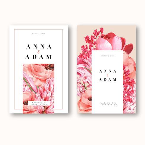 Tarjeta De Invitación De Primavera Con Flores De Arce Y