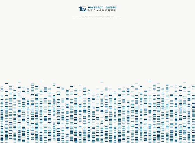 Onde sonore del modello quadrato geometrico blu astratto. illustrazione vettoriale eps10