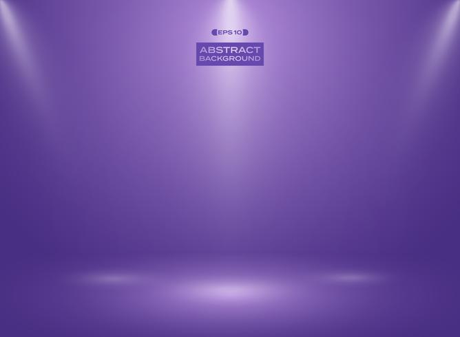 Résumé de couleur ultra violette dans le fond de la salle de studio avec sportlights.