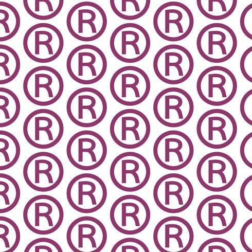Muster Hintergrund Registrierte Warenzeichen-Symbol