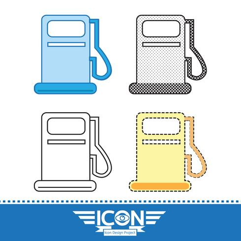 Gas oil station icon vector