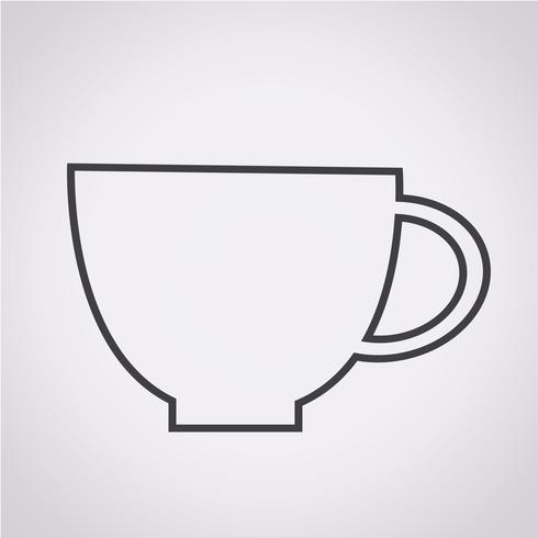 Cup pictogram symbool teken