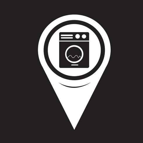 Mapa puntero icono de lavadora
