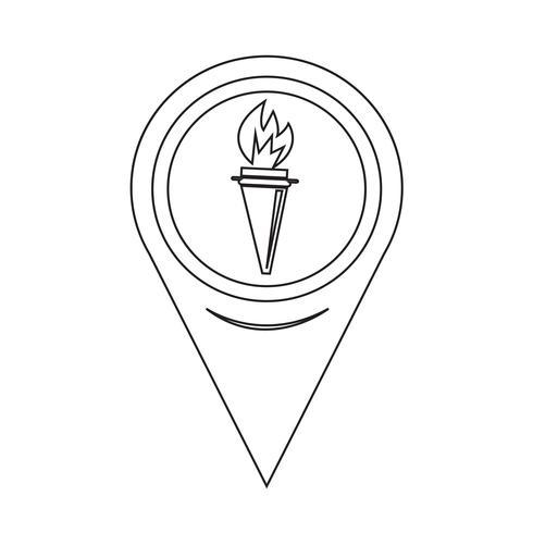 Icona della torcia puntatore mappa