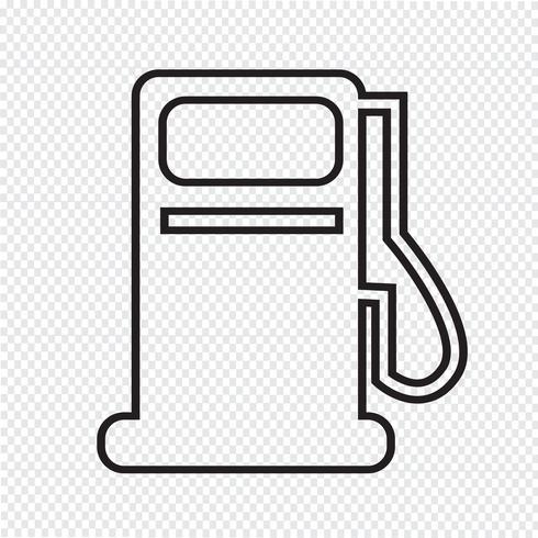 Benzinepomp pictogram, olie station pictogram