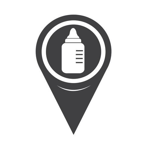 Karta Pointer baby milk bottle icon