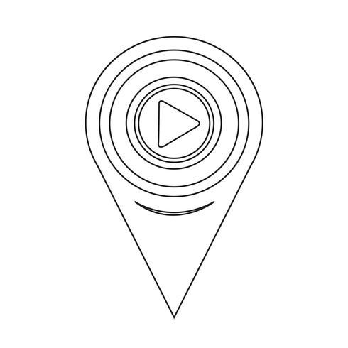 Icône de lecture de pointeur de carte