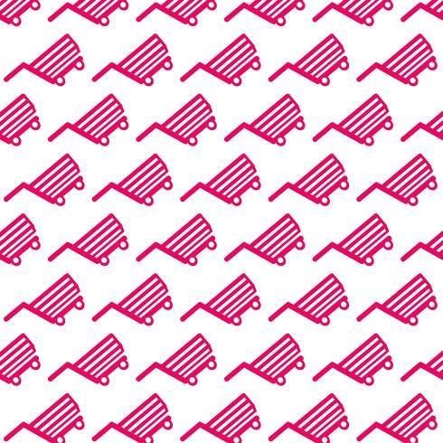 Shopping Cart Icon pattern background