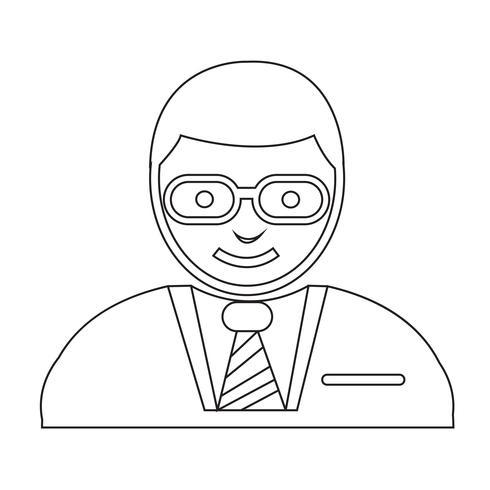 ícone de usuário de pessoas vetor
