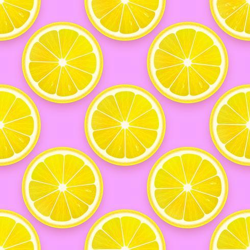 Fresh Lemon Seamless Pattern Vector Background
