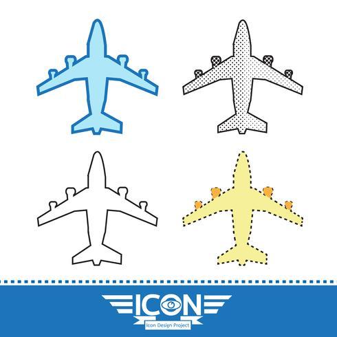Vliegtuig pictogram symbool teken