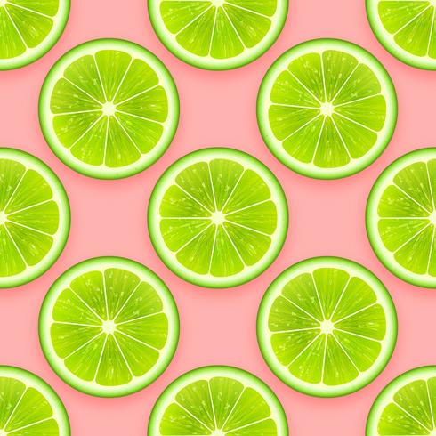 Fresh Lime Seamless Pattern Vector Background