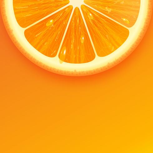 Vector de fondo naranja fresco en rodajas