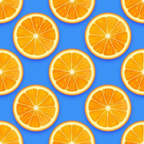 Fondo inconsútil anaranjado fresco del vector del modelo