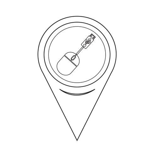 Kartenzeiger USB-Maus-Symbol