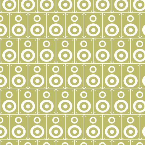 Fondo de patrón de altavoces de audio vector
