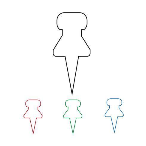 ícone de alfinete