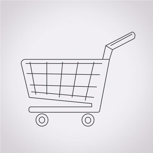 icono de carrito de compras vector