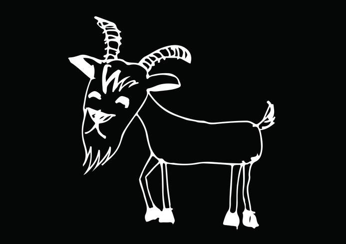 ilustración de dibujos animados de cabra vector
