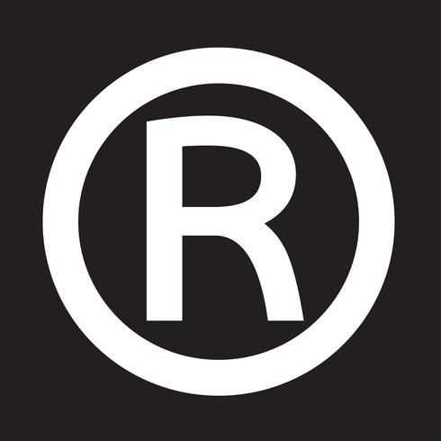 Pictogram geregistreerde handelsmerk
