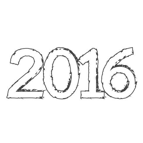 Feliz año nuevo 2016 vector