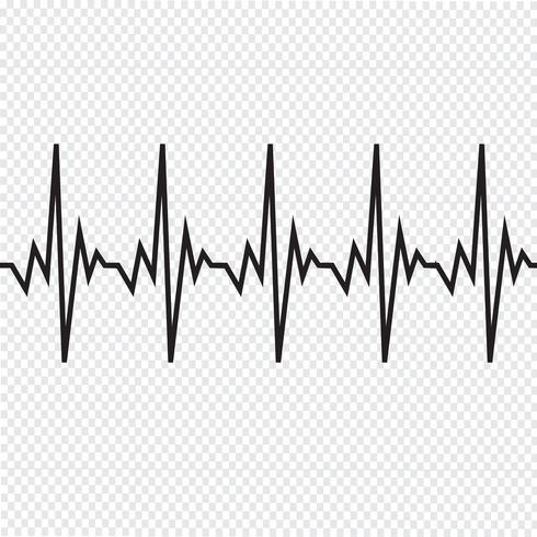 Icona del cardiogramma battito cardiaco