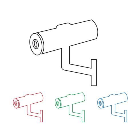 Icono de CCTV, CCTV, icono de seguridad